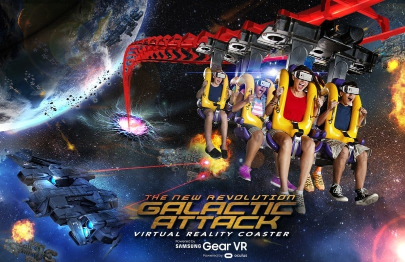 Six Flags zeigt Mixed Reality Achterbahn