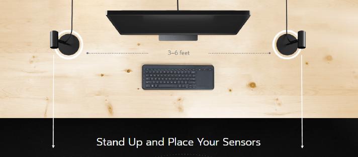 Anprdnung Sensoren Oculus Rift Touch
