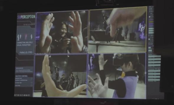 4 Perspektiven parallel mit VR-Brille