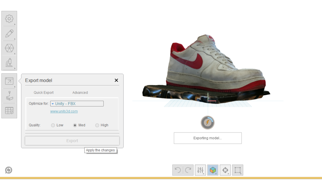 Schuh exportieren